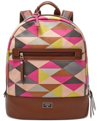 Fossil Dawson Canvas Backpack Pink Multi
