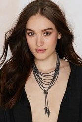 Nasty Gal Lourdes Layered Bolo Necklace