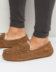 Just Sheepskin Moccasin Slippers Tan