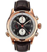 Bremont Dh 88 Rg 18Ct Rose Gold And Alligator Leather Watch Sapphire