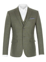 Racing Green Men's Comely Check Jacket Olive