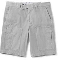 Brunello Cucinelli Cotton Gabardine Shorts Gray