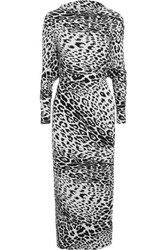 Norma Kamali The All In One Printed Stretch Jersey Dress Leopard Print