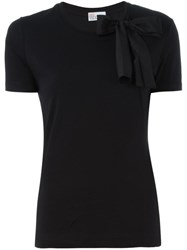 Red Valentino Bow Detail T Shirt Black