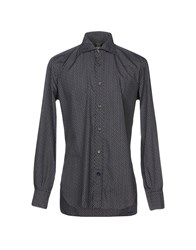 Mazzarelli Shirts Steel Grey