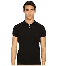 Dsquared Classic Fit Preppy Polo Black Men's Short Sleeve Knit