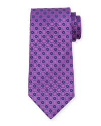 Charvet Neat Printed Silk Tie Light Purple