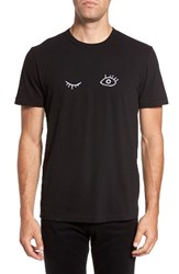 French Connection Men's Wink Regular Fit T Shirt Black White