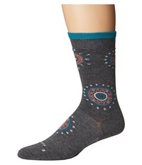 Feetures Sunburst Ultra Light Crew Sock Gray Crew Cut Socks Shoes