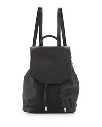 Rag And Bone Pilot Leather Flap Top Backpack Black Rag And Bone
