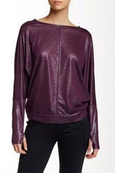 Zobha Activewear Parker Long Sleeve Layering Tee Purple