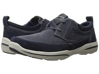 Skechers Relaxed Fit Harper Lenden Navy Suede Canvas Men's Shoes