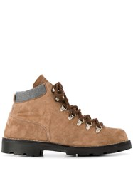 Andrea Ventura Lace Up Ankle Boots Neutrals