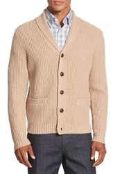 Men's Wallin And Bros. Elbow Patch Cardigan Tan Kelp