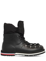 Moncler Inaya Leather Boots Black