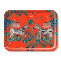 Emma J Shipley 'Lost World' Rectangular Tray Red