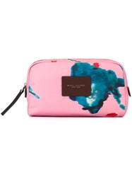 Marc Jacobs 'B.Y.O.T.' Brocade Floral Make Up Bag Pink And Purple