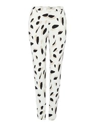 Hugo Boss Slim Leg Printed Trouser White