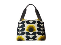 Orla Kiely Summer Flower Stem Classic Zip Shoulder Bag Sunshine Shoulder Handbags Yellow