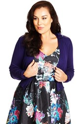 Plus Size Women's City Chic 'Wrapped Up' Bow Detail Cardigan Petunia