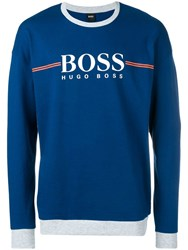 Hugo Boss Logo Sweatshirt Blue