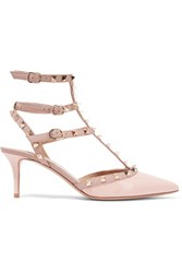 Valentino Rockstud Leather Pumps Pastel Pink
