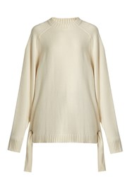 Tibi Tie Side Cashmere Sweater Ivory