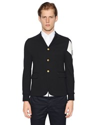 Moncler Gamme Bleu Cotton Jersey Jacket With Printed Detail