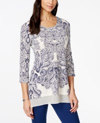 Styleandco. Style And Co. Printed Chiffon Hem Tunic Only At Macy's