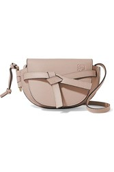 Loewe Gate Mini Textured Leather Shoulder Bag Mushroom