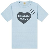 Human Made Bold Heart Logo Tee Blue