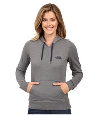 The North Face Lite Weight Pullover Hoodie Tnf Medium Grey Heather Cosmic Blue Women's Sweatshirt Gray