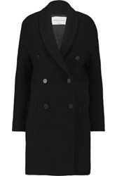 Sonia Rykiel Woven Wool Blend Coat Black