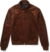 Tom Ford Slim Fit Suede Harrington Jacket Tan