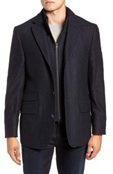 Flynt Hybrid Wool And Cashmere Sport Coat Blue