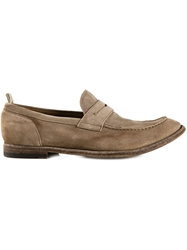 Officine Creative 'Anatomia' Penny Loafers Nude And Neutrals