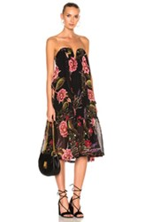 Nicholas Peony Floral Wrap Halter Dress In Black Floral Black Floral