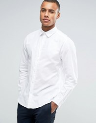Esprit Regular Fit Long Sleeve Shirt In Cotton Twill White 100