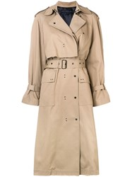 Eudon Choi Gesner Trench Coat Nude And Neutrals