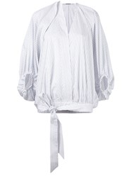 Chalayan Balloon Blouse White