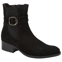John Lewis Pearle Buckle Ankle Boots Black