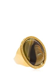 Rosantica Scarabeo Ring Gold Green