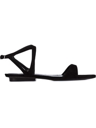 Narciso Rodriguez Buckle Sandals Black