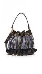 Milly Pom Pom Bucket Bag Black