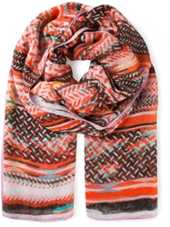 Lala Berlin Abstract Print Scarf Red