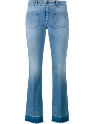 Stella Mccartney Skinny Kick Jeans Blue Tan
