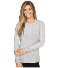 Brooks Distance Long Sleeve Top Heather Oxford Sol Shine Women's Long Sleeve Pullover Silver