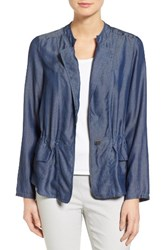 Nic Zoe Women's Denim One Button Jacket