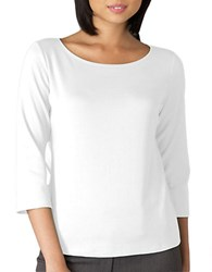 Eileen Fisher Petite 3 4 Sleeve Ballet Top White
