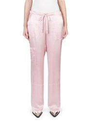 Marques Almeida Silk Pajama Trousers Pale Pink